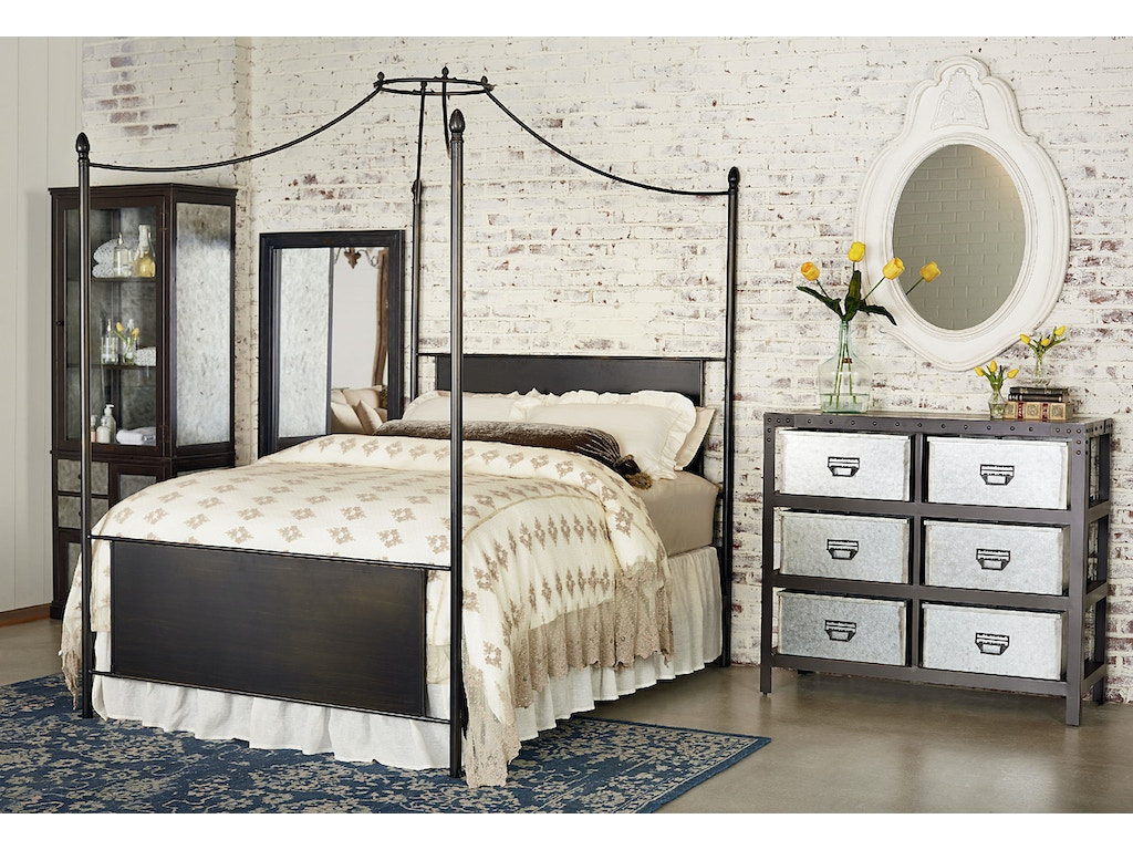 magnolia home cathedral iron canopy bed