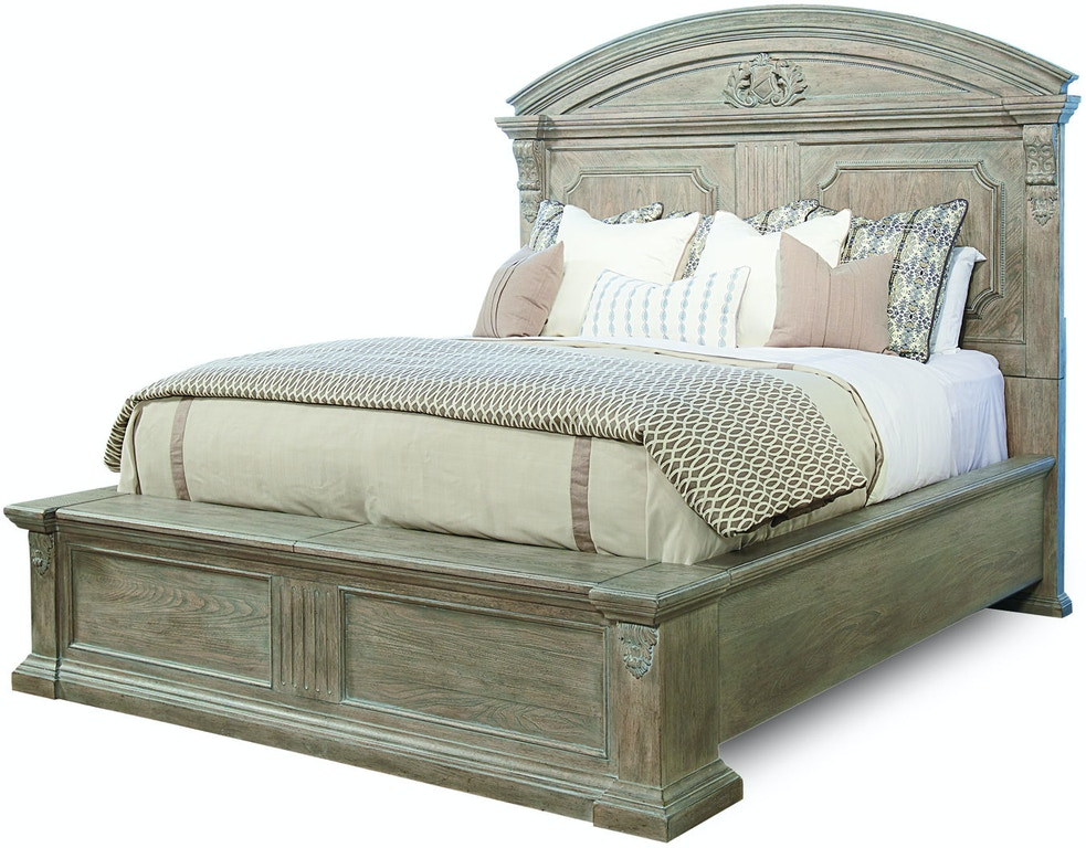 Arch. Salvage Chambers King Panel Bed