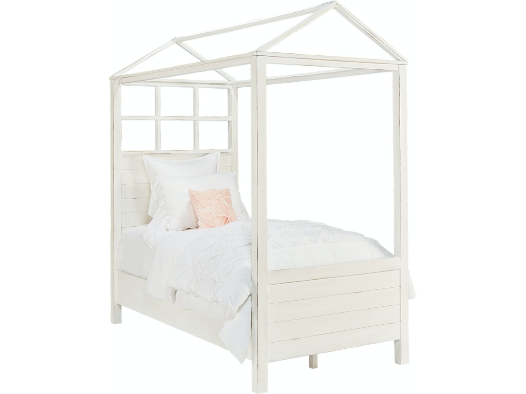 Bedroom magnolia kids boho playhouse canopy bed jo 39 s white for White canopy bed
