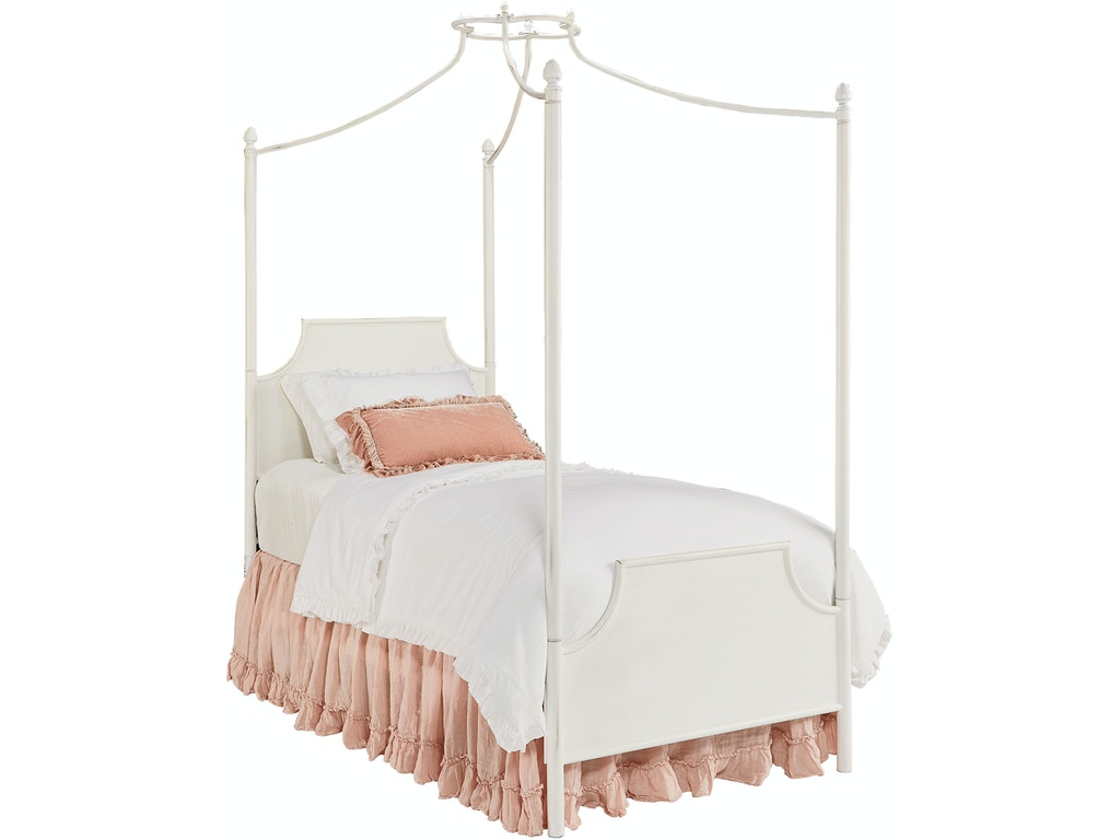 Where does joanna gaines buy her bedding - Magnolia Kids Traditional Manor Iron Canopy Bed Twin