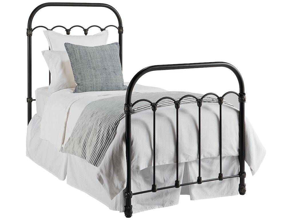 Bedroom magnolia kids primitive colonnade metal bed for Childrens iron beds