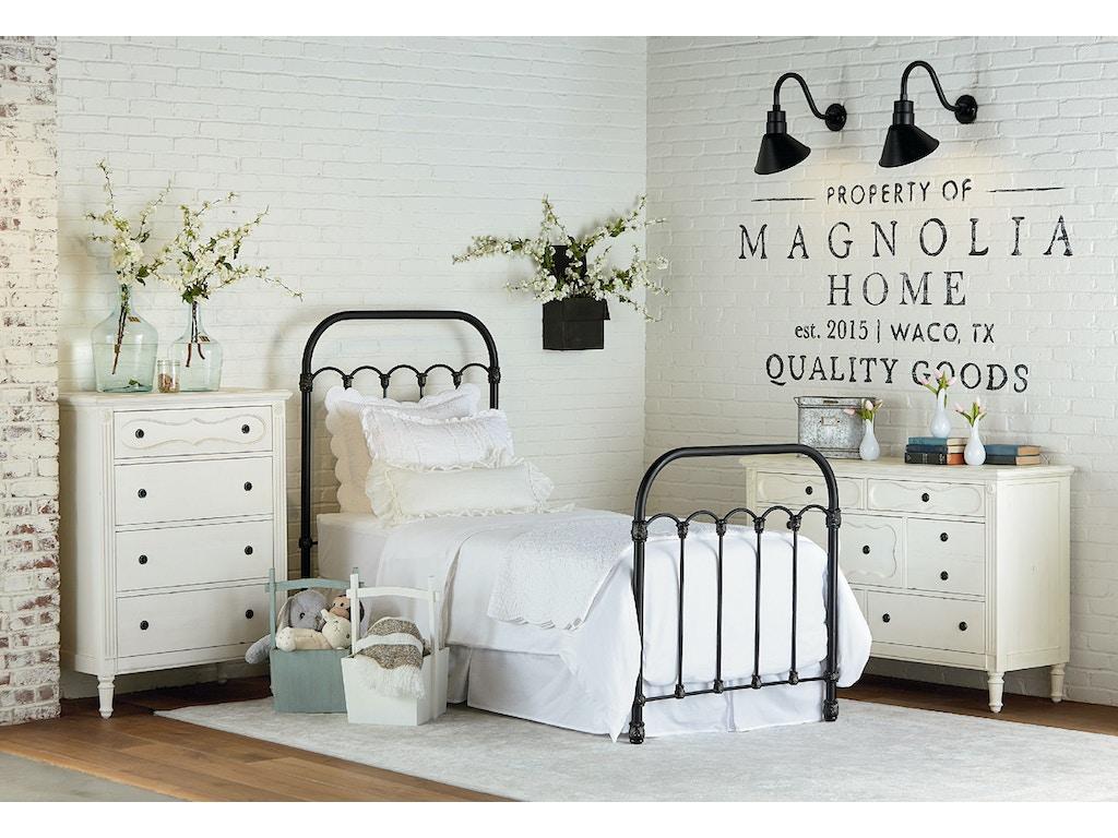 Primitive Bedroom Furniture Bedroom Magnolia Kids Primitive Colonnade Metal Bed Twin
