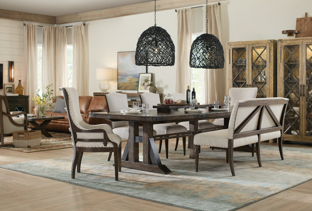 Dining Room Roslyn County Trestle Dining Table