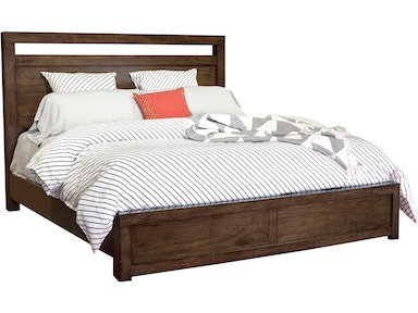 Modern Loft Brownstone Queen Panel Bed