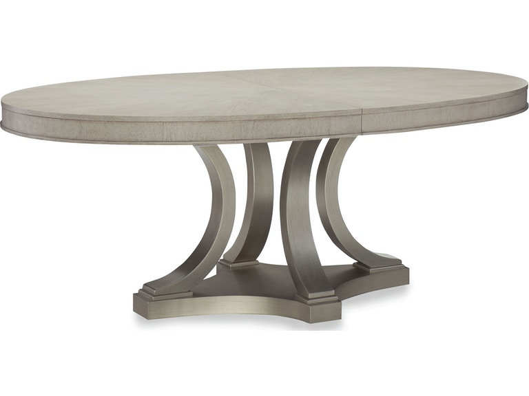 Dining Room Rachael Ray Cinema Oval Pedestal Dining Table - Oblong pedestal dining table
