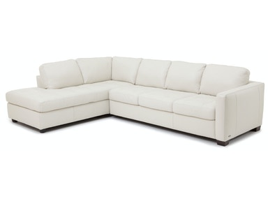 Denver 2-Piece Leather Sectional - IVORY