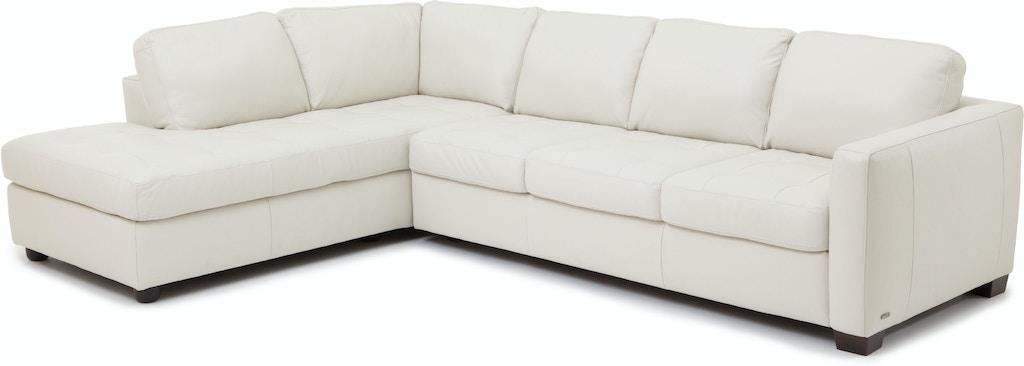 Denver 2 Piece Leather Sectional Ivory Kt 83196
