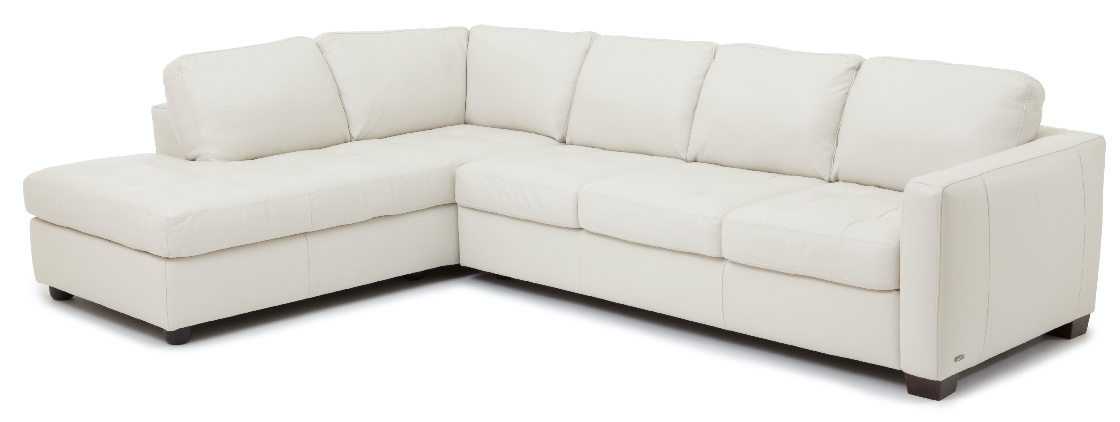 Denver 2 Piece Leather Sectional   IVORY KT:83196