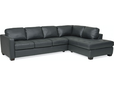 Denver Leather Raf Chaise Sectional Anthracite