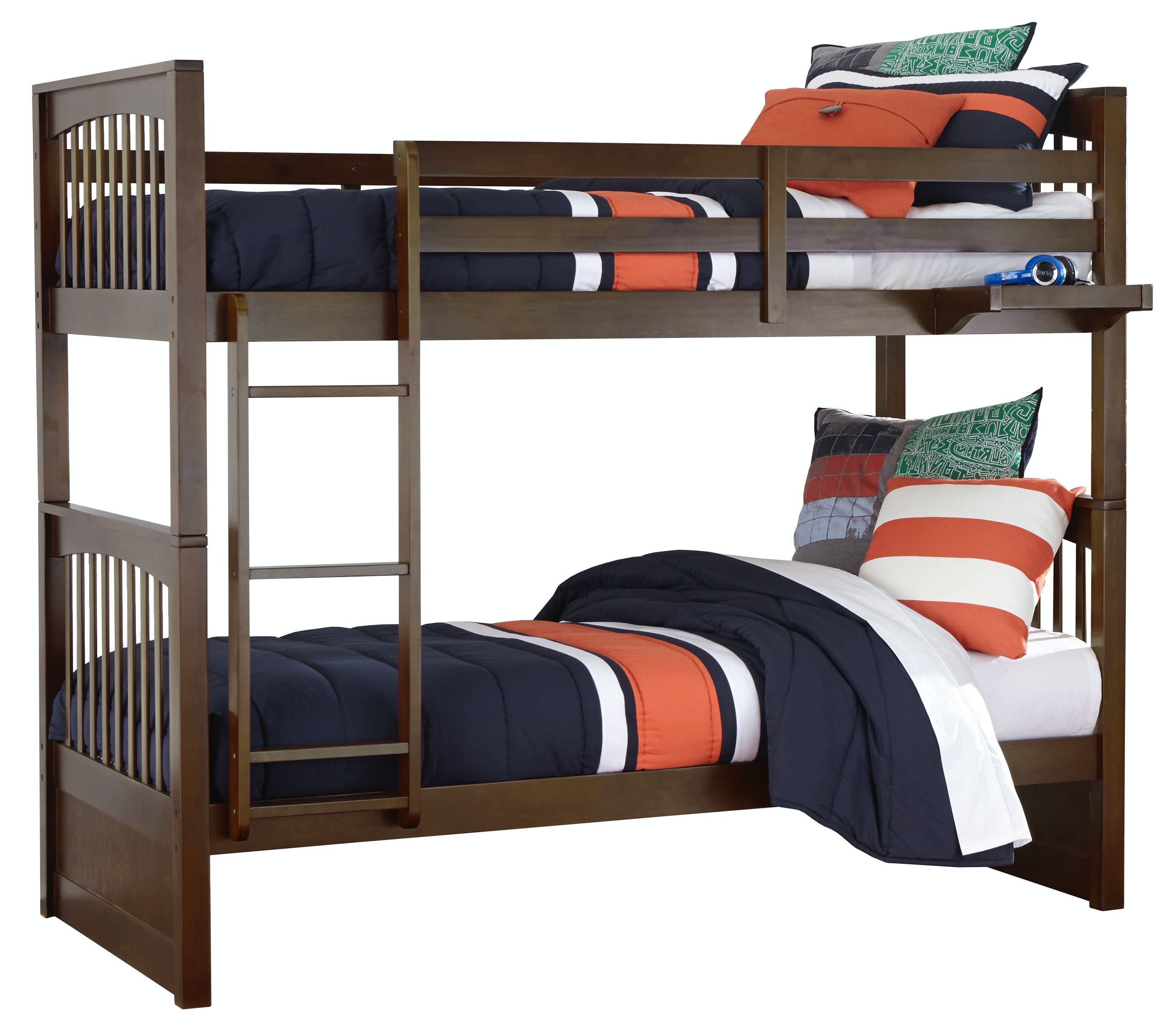Pulse Twin Over Twin Bunk Bed   CHOCOLATE