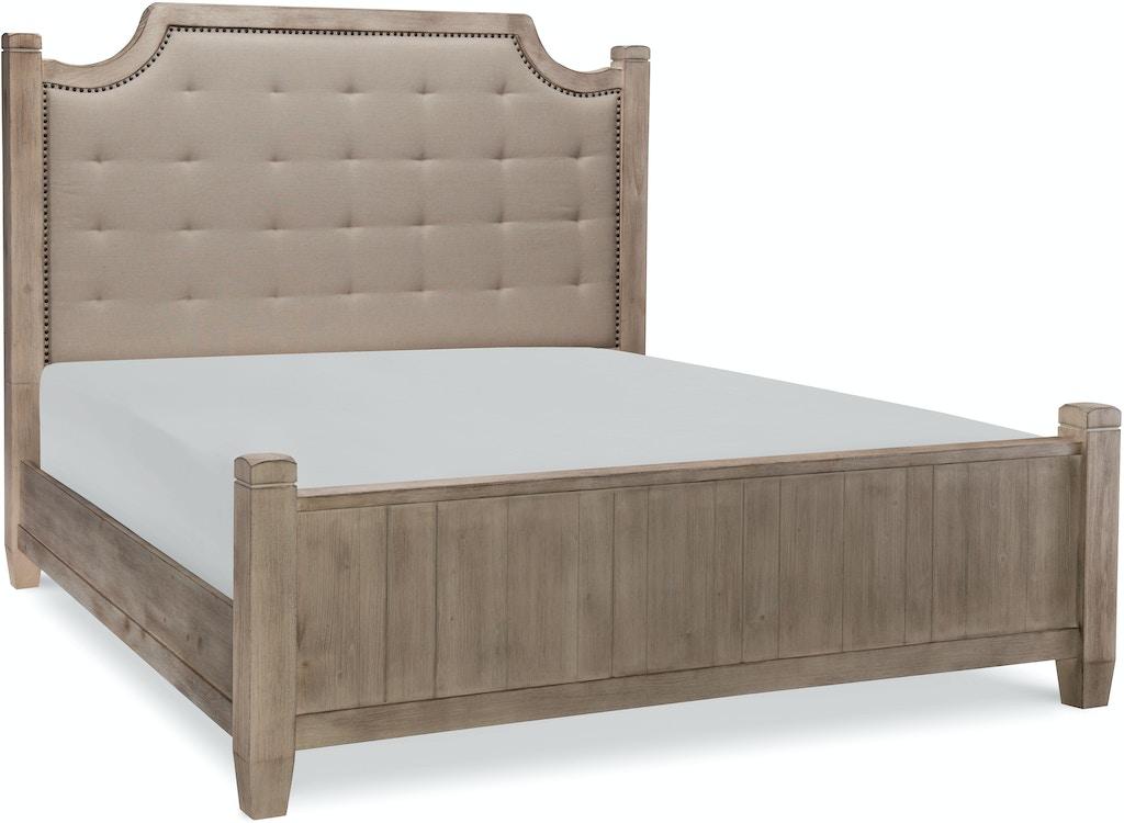 Bedroom Rachael Ray Monteverdi Upholstered Low Post Bed - QUEEN