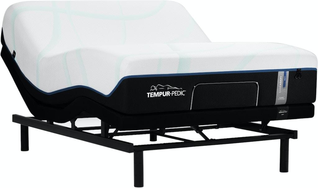 Tempur Luxe Adapt Soft Mattress With Tempur Ergo Adjustable Base Queen