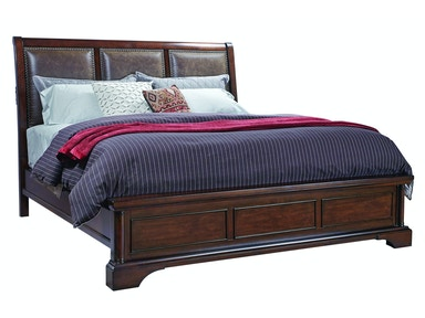 Bancroft Upholstered Sleigh Bed - QUEEN
