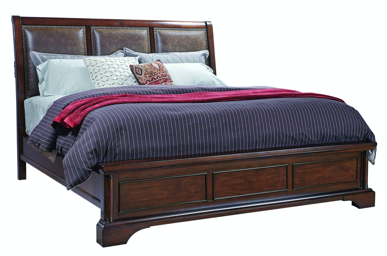 bancroft upholstered sleigh bed
