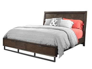 Harper Point Panel Bed with Storage Footboard - Queen