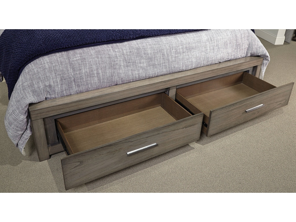 Bedroom modern loft queen panel bed with storage footboard - Modern queen bed with storage ...
