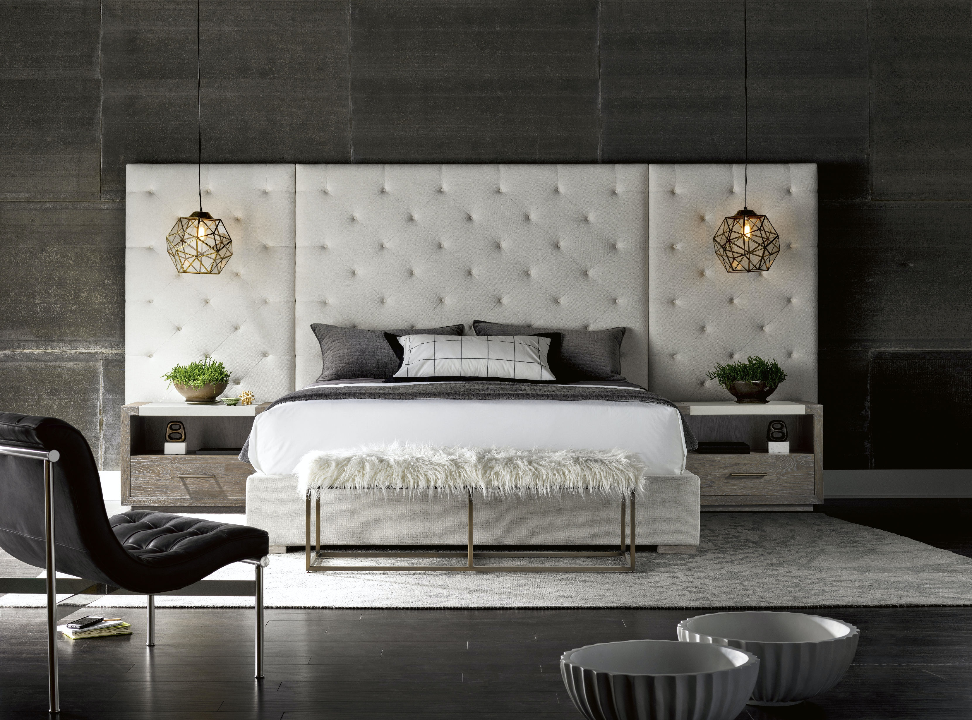Modern Charcoal Queen Brando Wall Bed