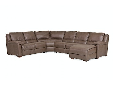 Monte Carlo 4-Piece Leather Sectional