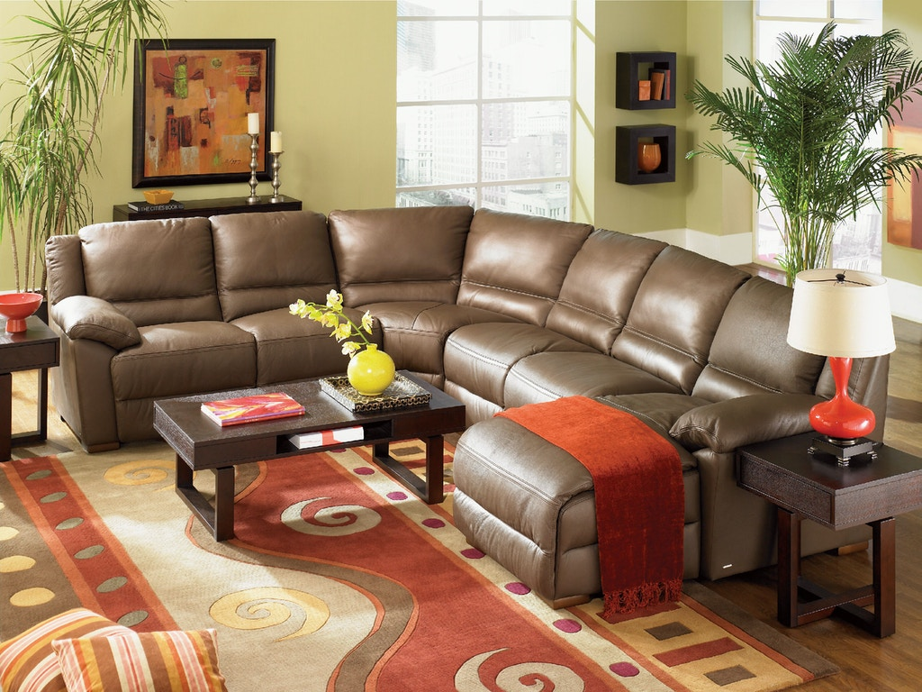 Leather Sectional Living Room Living Room Monte Carlo 4 Piece Leather Sectional