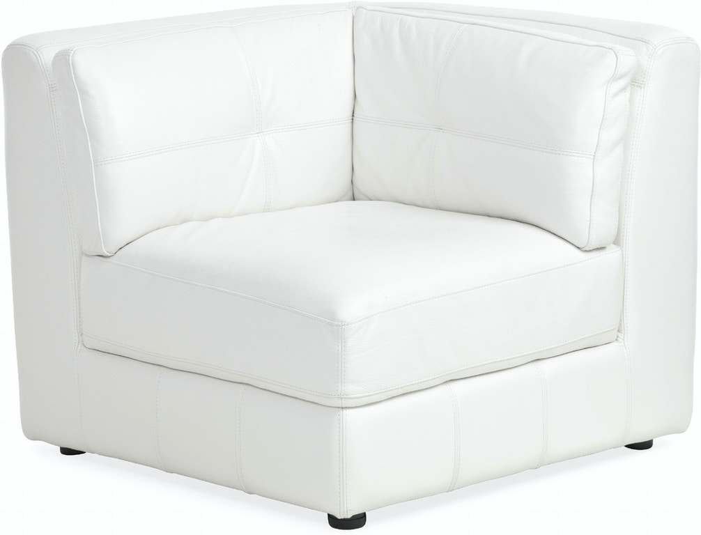Living Room Penthouse 6 Piece Leather Sectional Cream