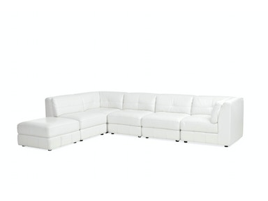Penthouse 6-Piece Leather Sectional