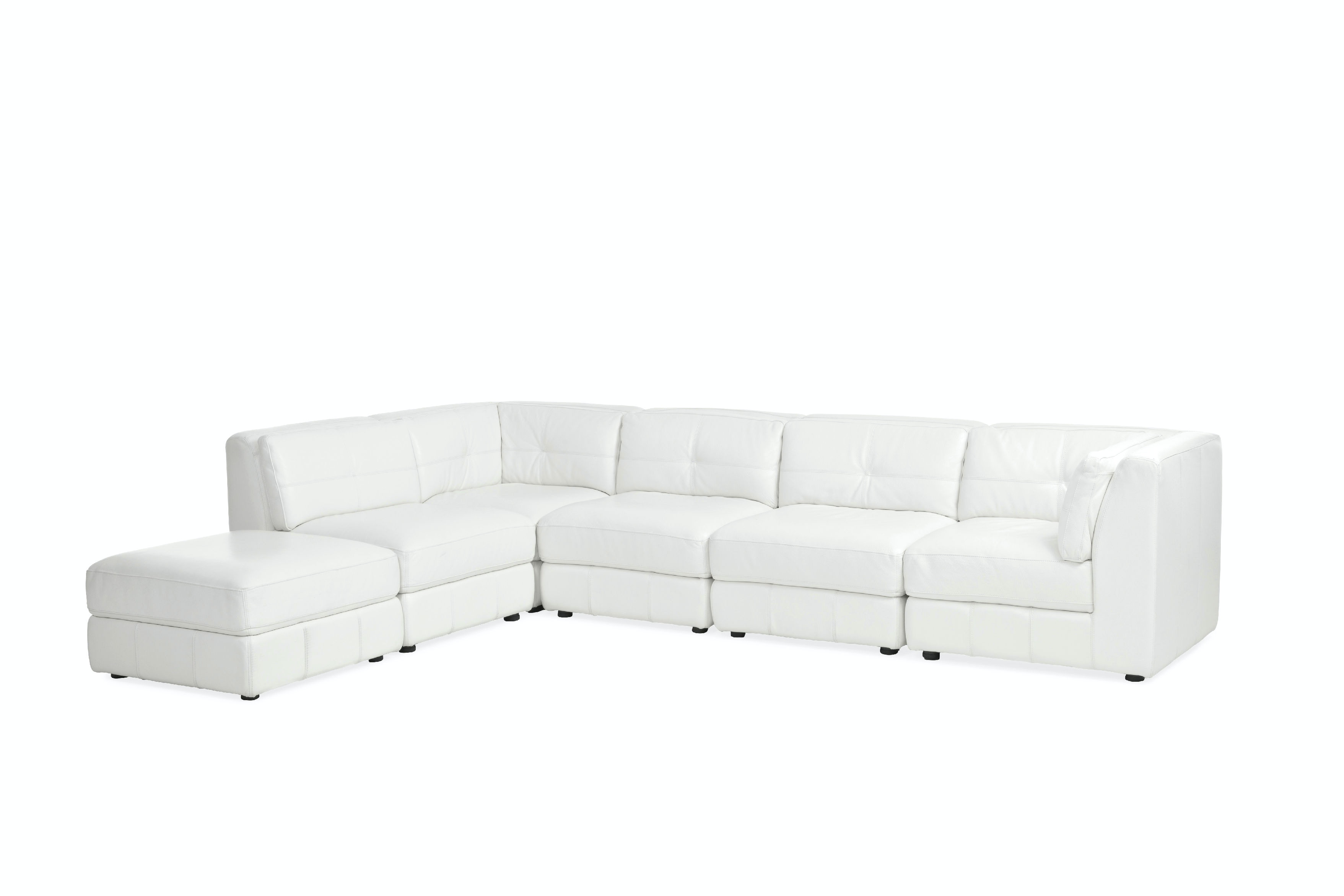 Penthouse 100% Leather 6 Piece Sectional