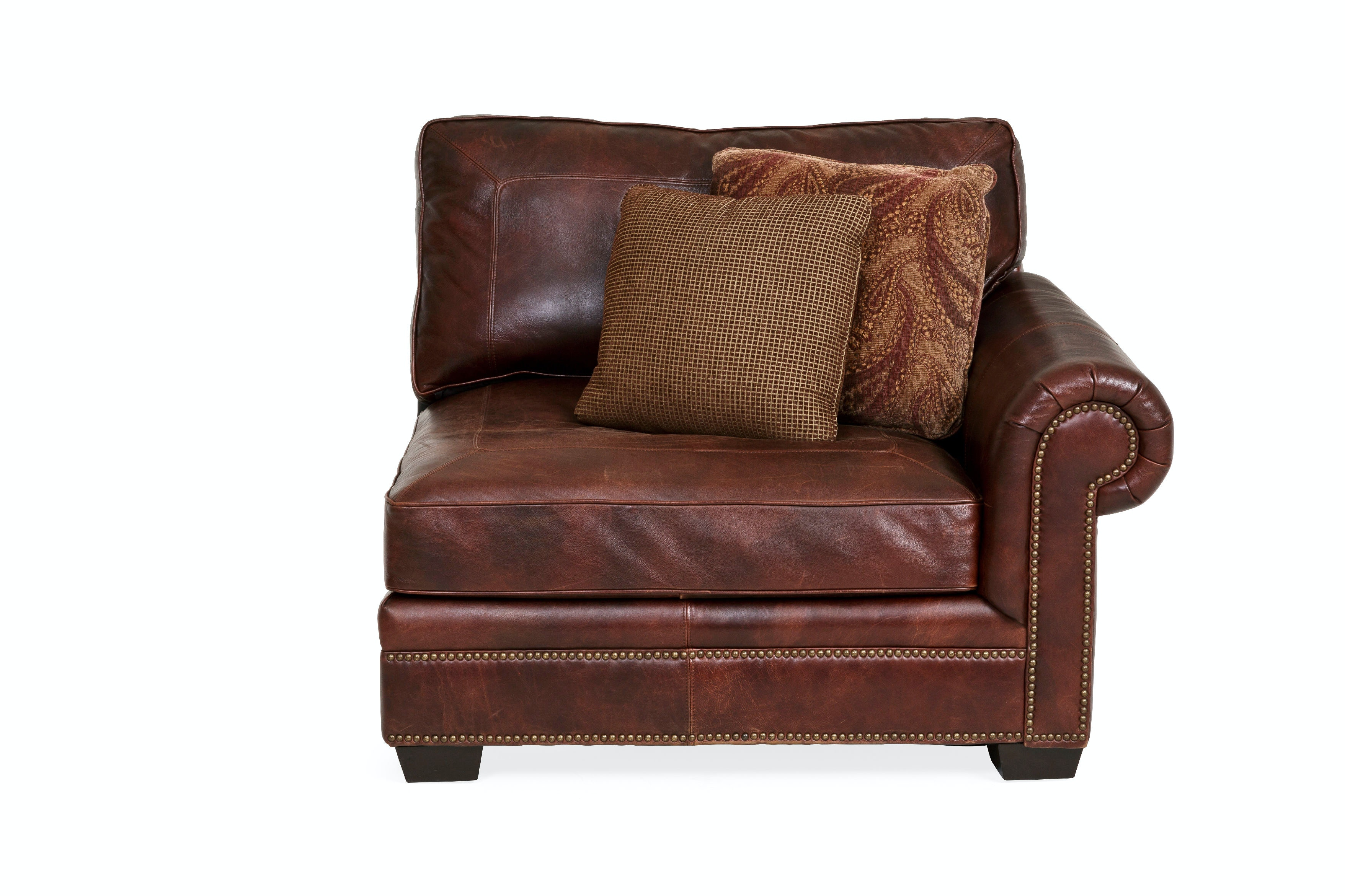 Bernhardt Leather Sectionals & Brass