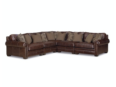 Grandview 5-Piece Leather Sectional