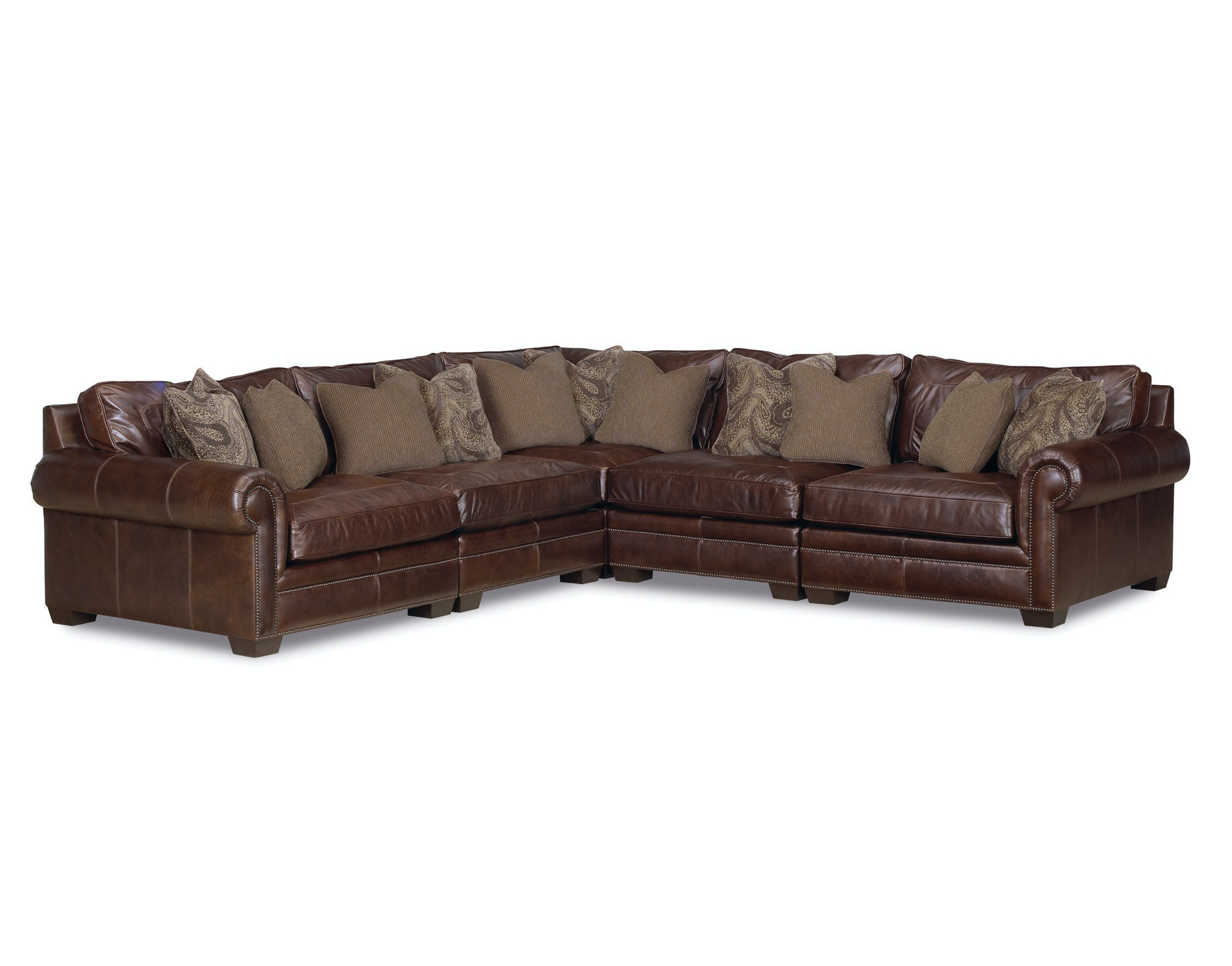 Lovely Grandview 5 Piece Leather Sectional GP:L106