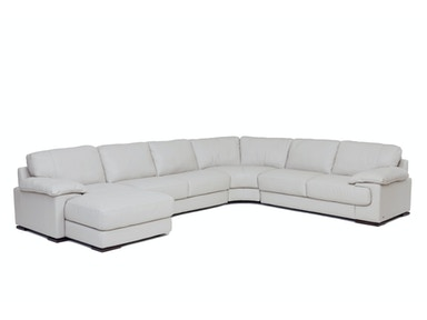 Denver 4-Piece Leather Sectional - SMOKE