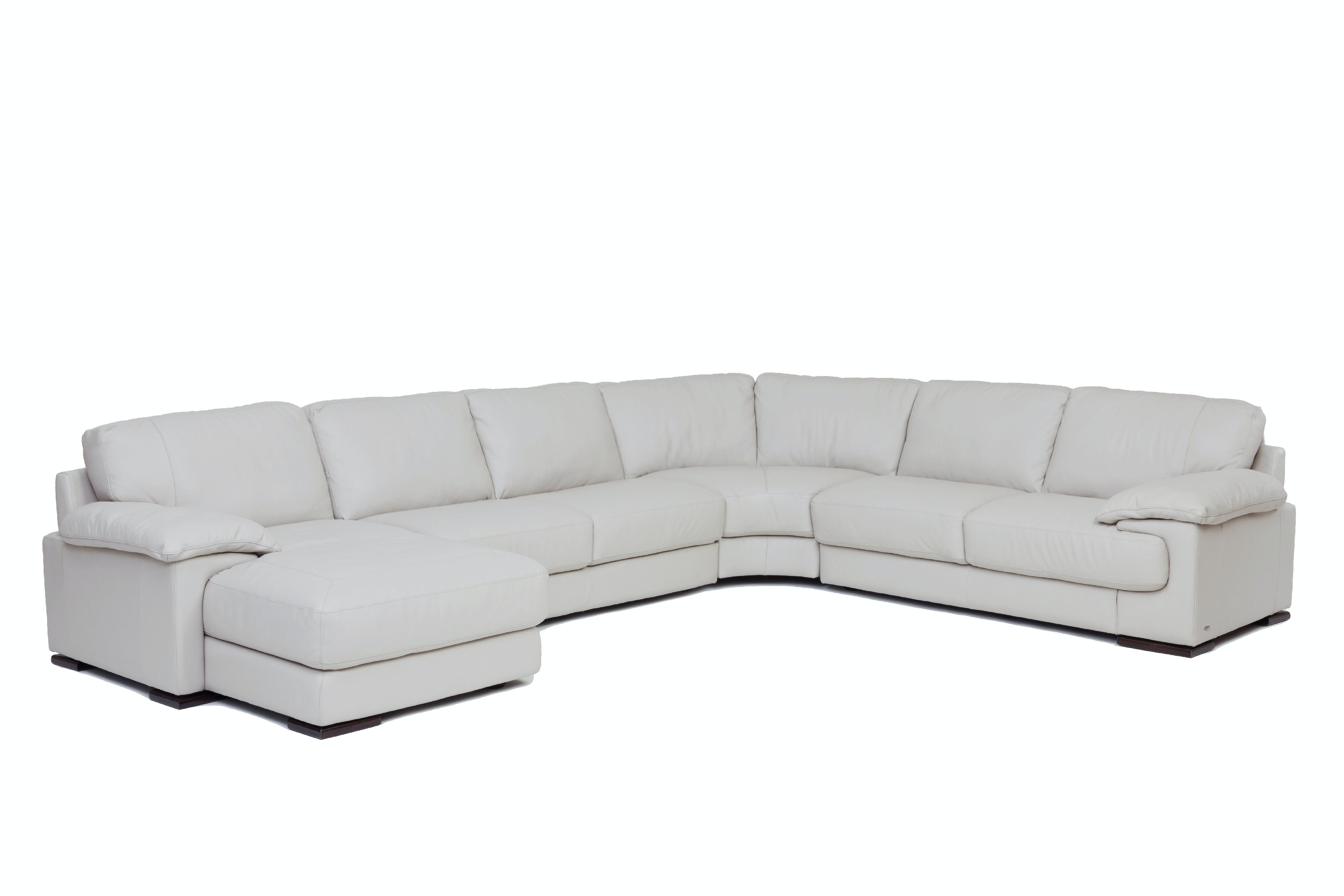 denver 4piece leather sectional smoke - Sectionals