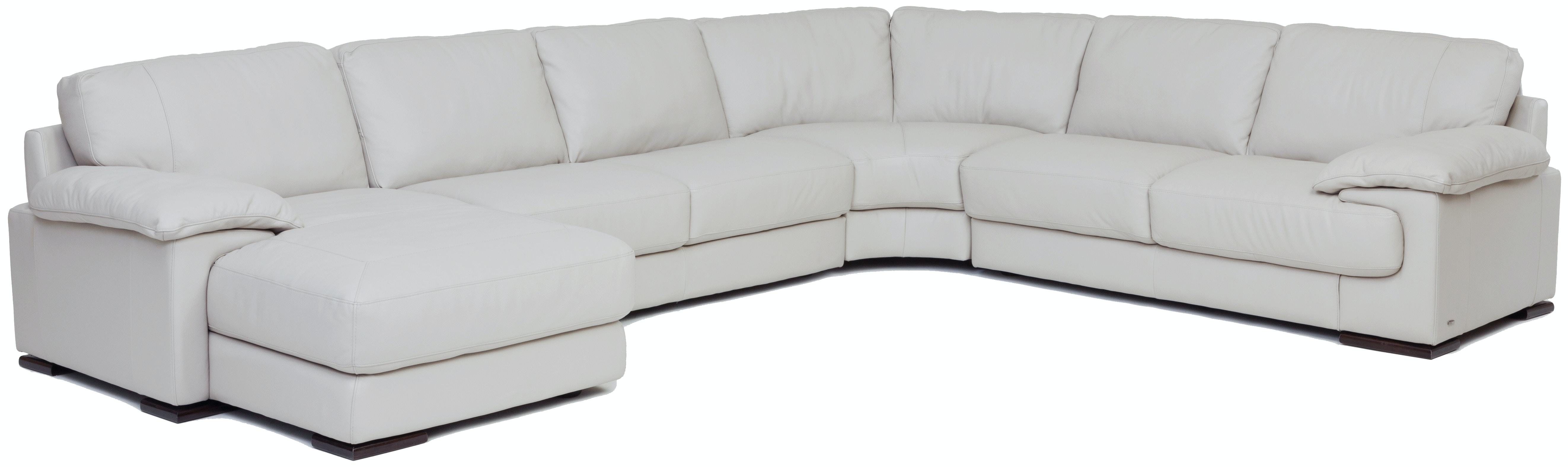 Denver 4 Piece Leather Chaise Sectional (LAF)   SMOKE GP:L115