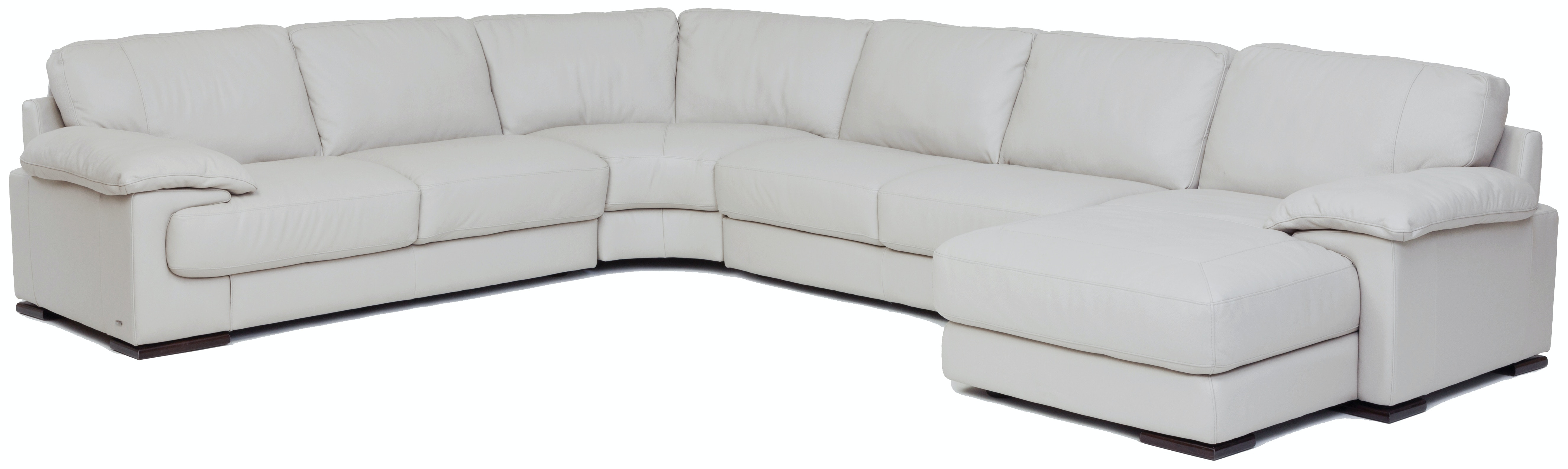 Denver 4 Piece Leather Chaise Sectional (RAF)  SMOKE GP:L116