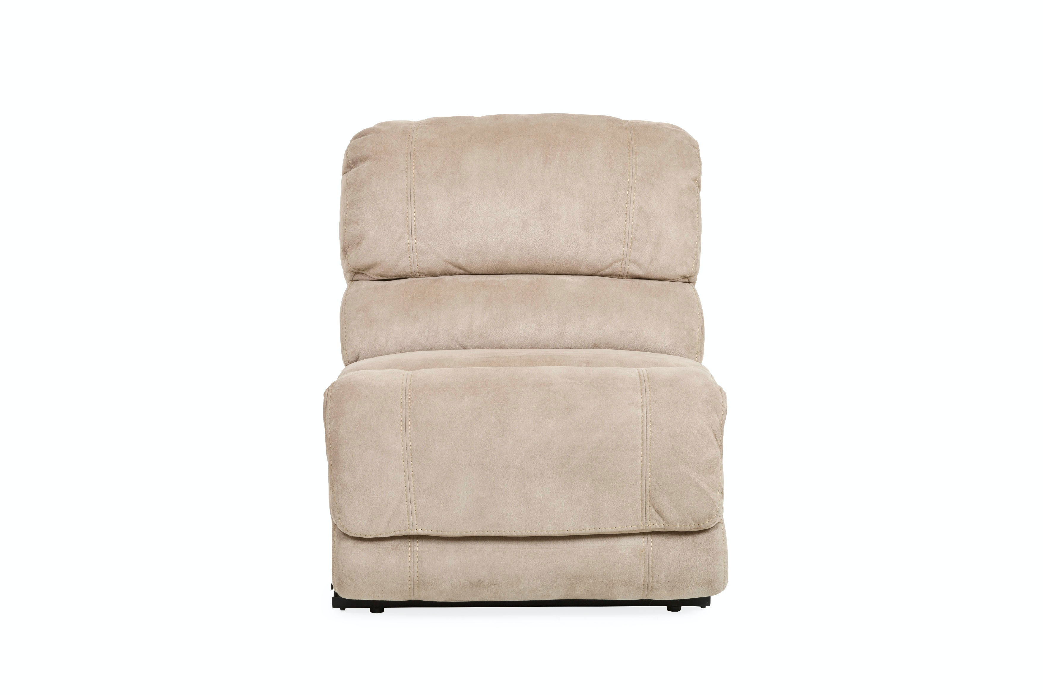 Living room jumbo armless manual recliner for 2 arm pressback chaise