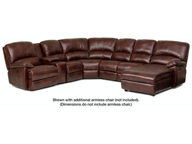 Dylan 6-Piece Leather Sectional
