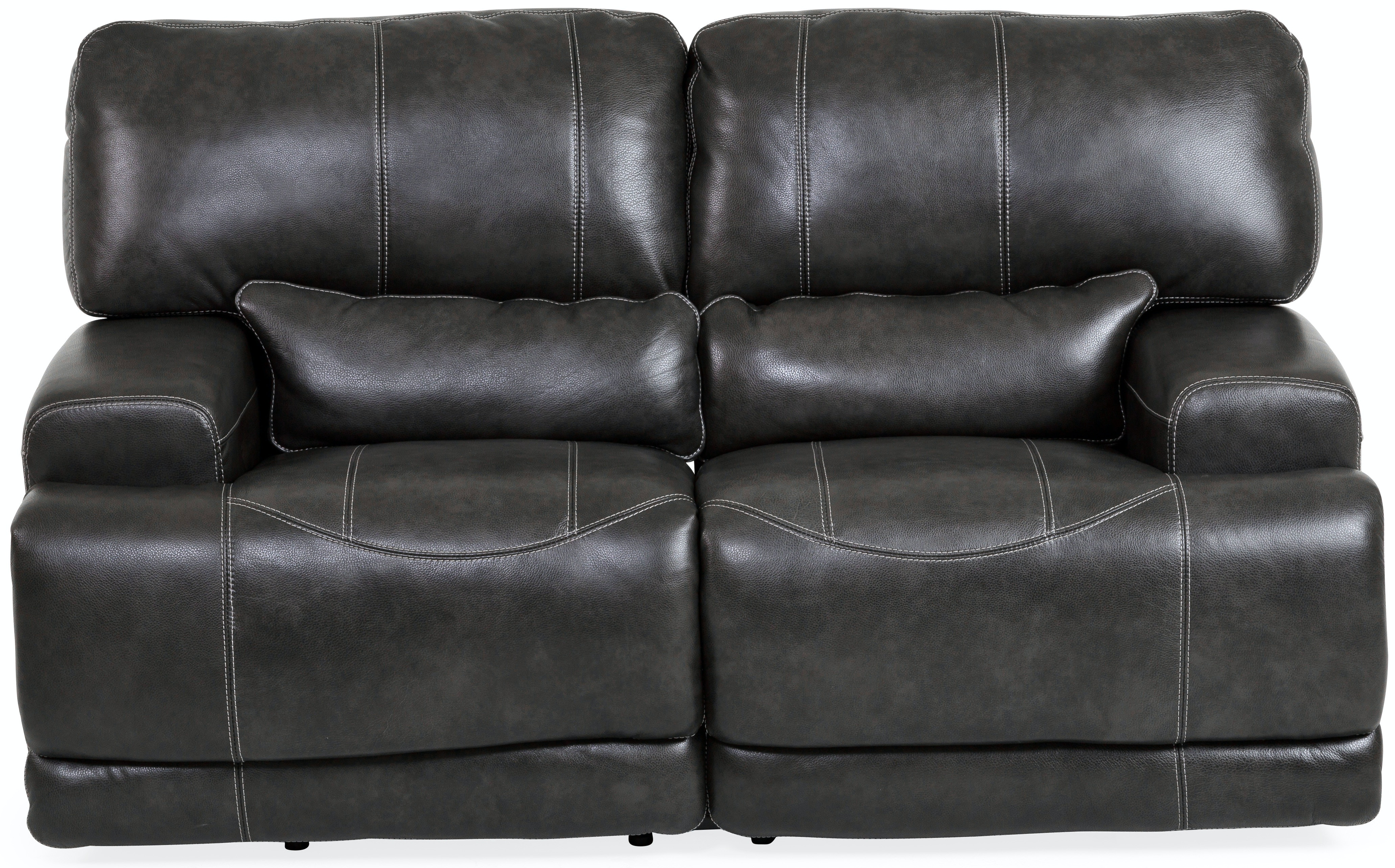 Stampede Leather Power Reclining Loveseat   CHARCOAL ST:422615