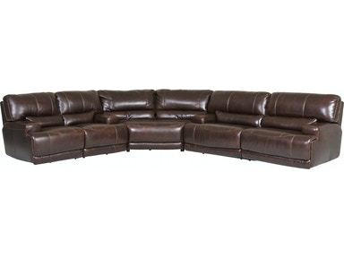 Stampede Leather 3 Piece Manual Reclining Sectional Coffee Gp M091