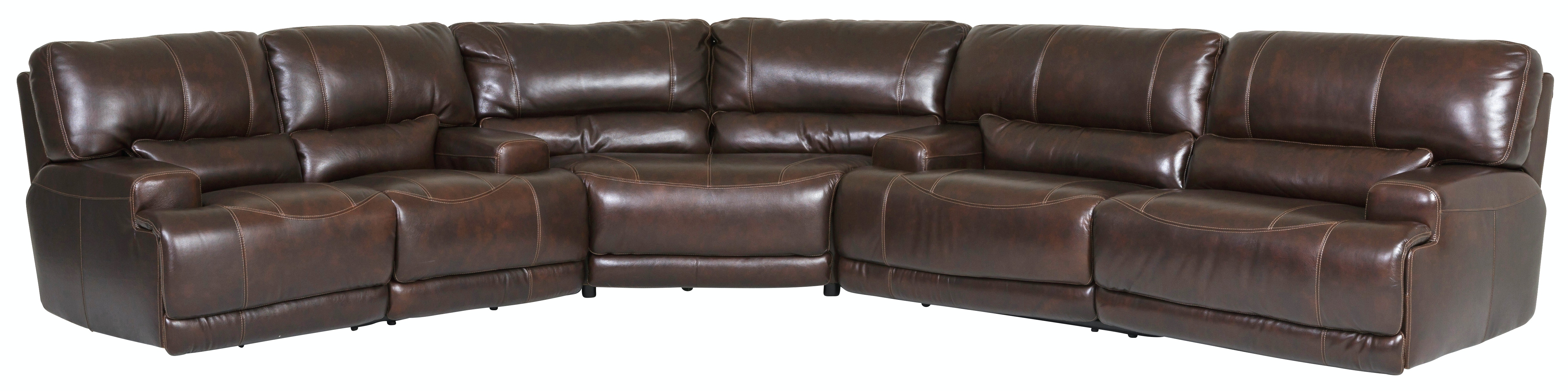 Merveilleux Stampede Leather 3 Piece Power Reclining Sectional   COFFEE GP:M090 ·  VIDEO: Simon Li Optional Rechargeable Battery Installation