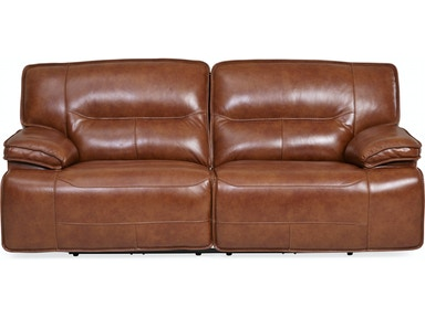 Stampede Leather Reclining Sofa Chestnut