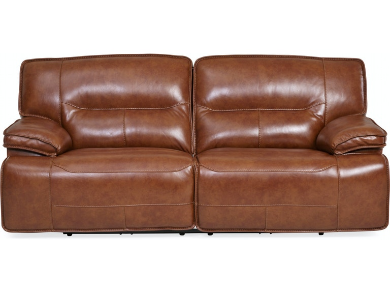 Stampede Leather Reclining Sofa Chestnut St 439564