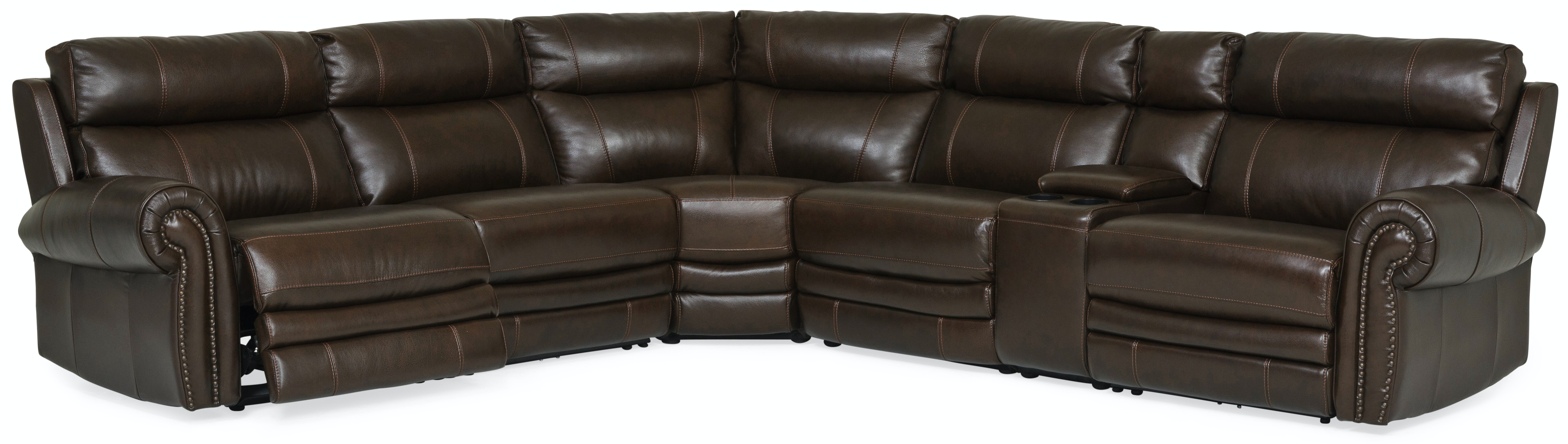 Bentley 6 Piece Power Reclining Leather Sectional GP:M165