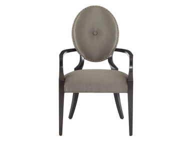 Jet Set Upholstered Oval Back Arm Chair