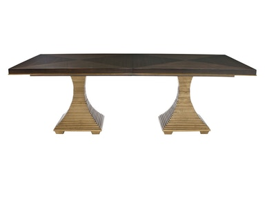 Jet Set Double Pedestal Dining Table
