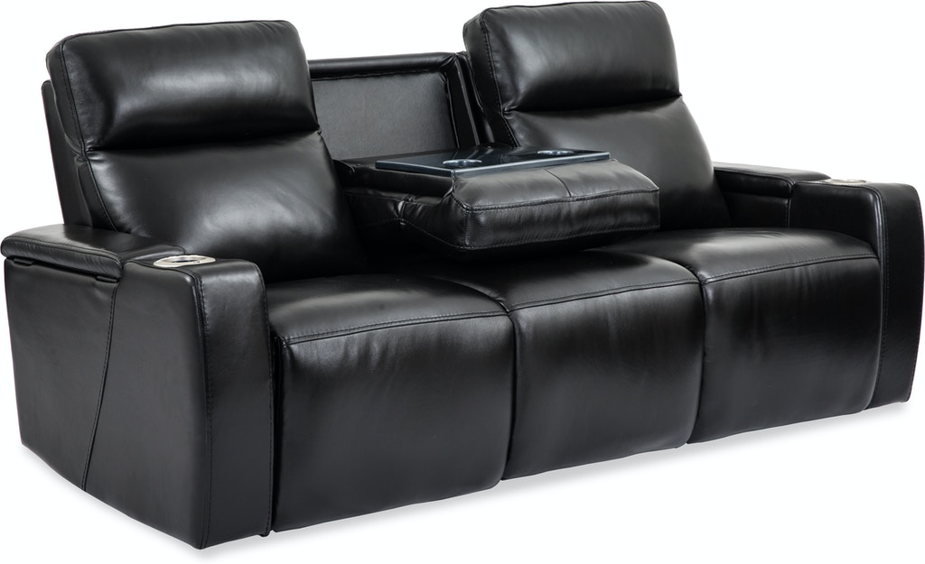 Living Room Wizard Leather Power Reclining Sofa