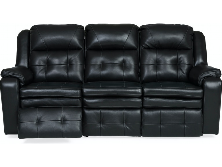 Living Room Inspire Leather Power Reclining Sofa Night