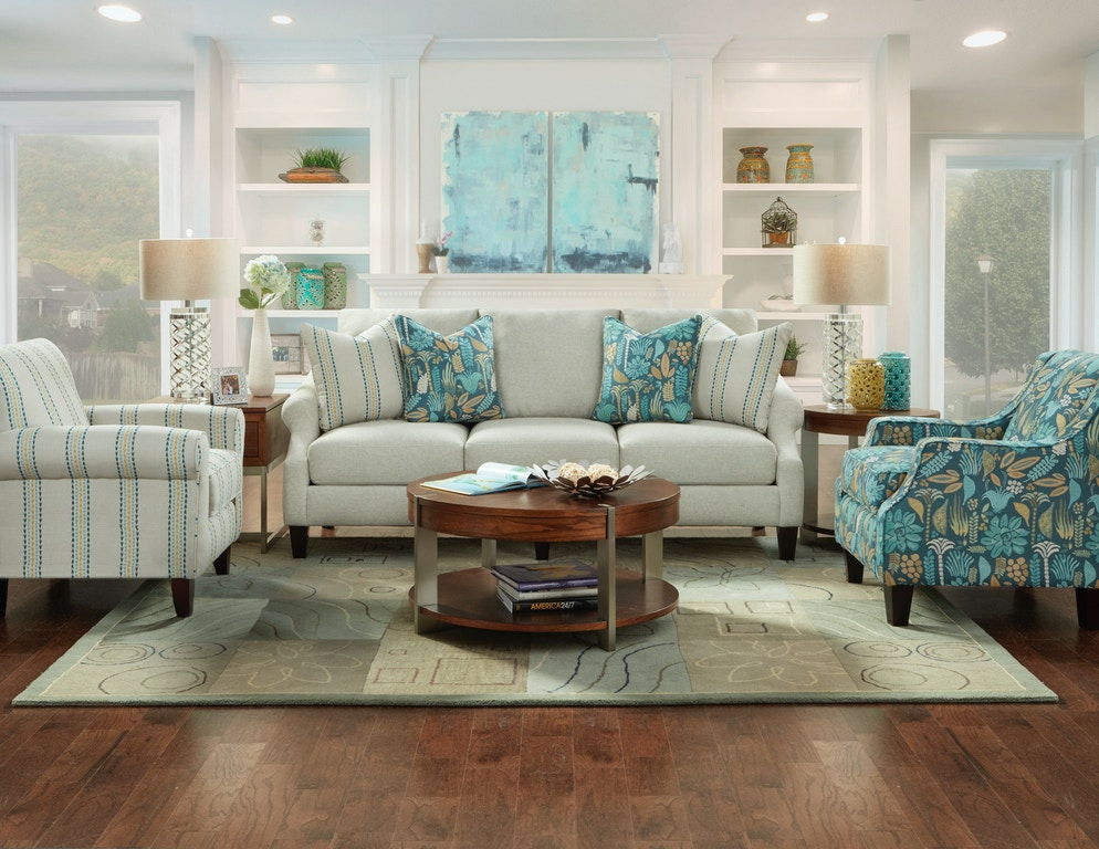 Living Room Harmony Striped Accent Chair