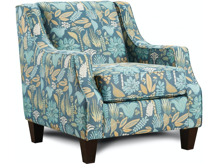 Living Room Harmony Floral Accent Chair