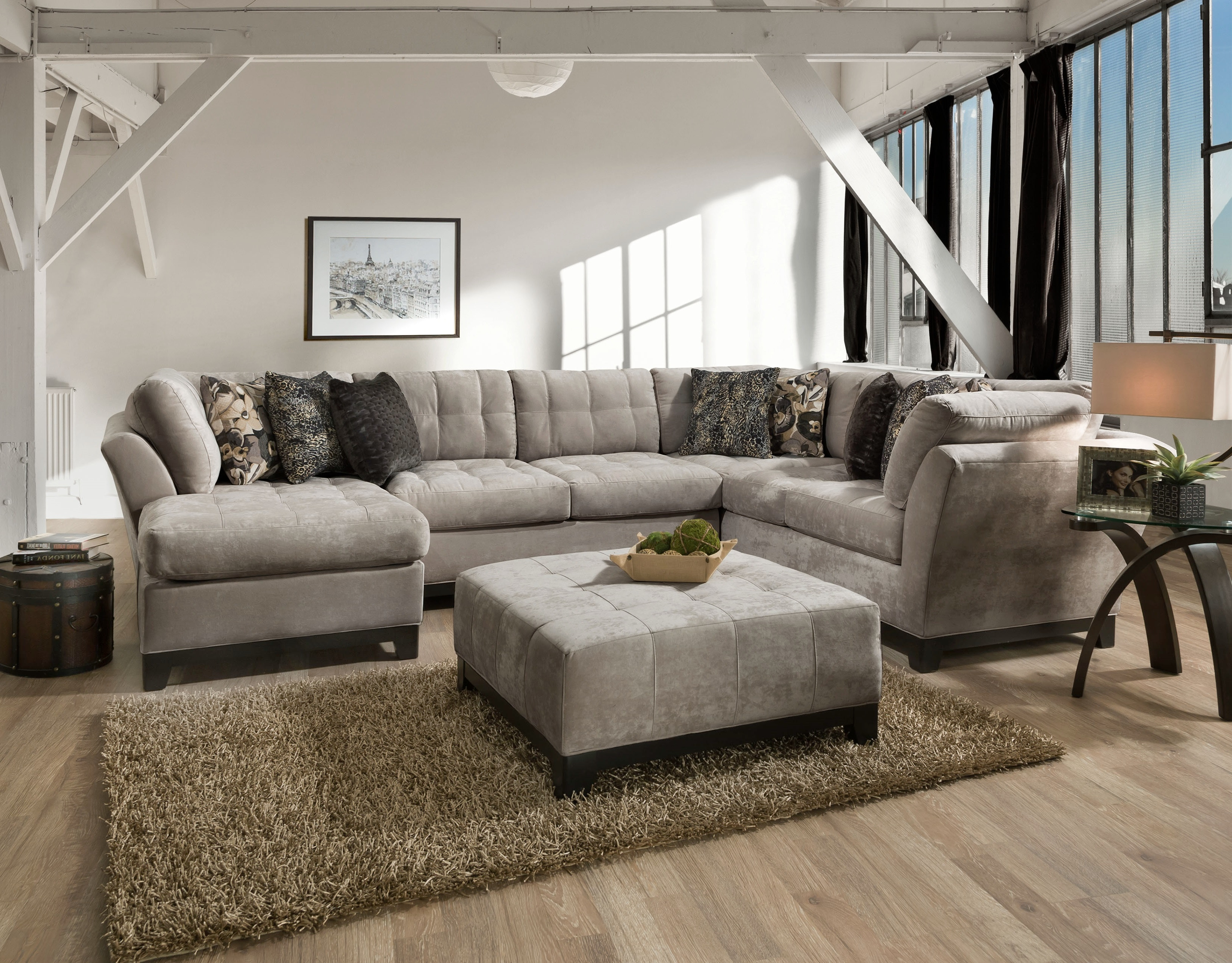 Delicieux Gotham 3 Piece Chaise Sectional (LAF)   GRANITE