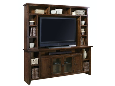 Tabac Alder 2-Piece 84 Media Console With Hutch