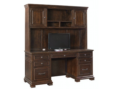 Weston 2pc Computer Credenza with Hutch
